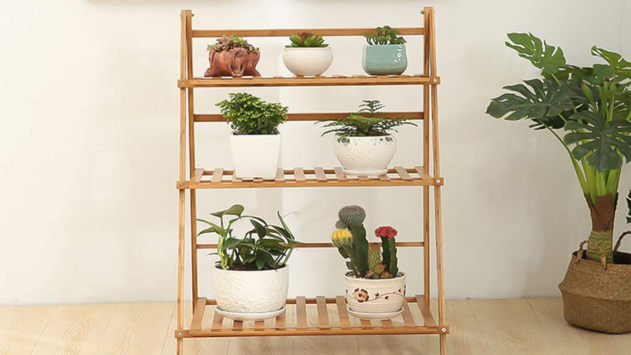Mueble escalera para las plantas