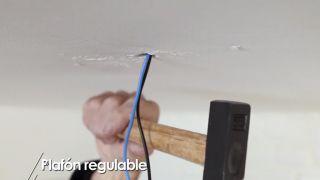 Cómo colocar un plafón regulable - Paso 2
