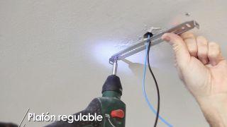 Cómo colocar un plafón regulable - Paso 3