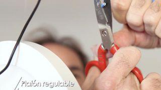 Cómo colocar un plafón regulable - Paso 4