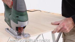 Cómo hacer una mesa para silla de ruedas - Paso 3