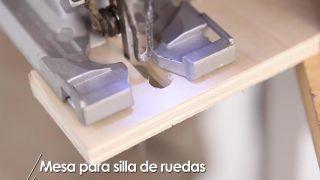 Cómo hacer una mesa para silla de ruedas - Paso 7