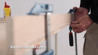 Cómo hacer un banco con taburetes - Paso 4