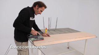 Cómo hacer un banco con taburetes - Paso 5