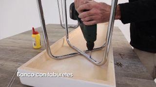 Cómo hacer un banco con taburetes - Paso 7
