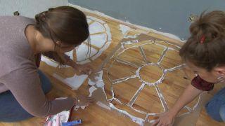 Alfombras pintadas: Colócala correctamente en el suelo