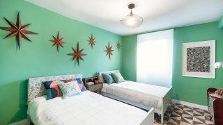 Dormitorio doble en tonos verdes - Paso 7