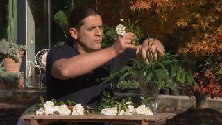 Arreglo floral con la rosa opalia