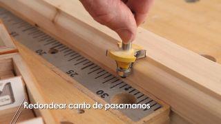 Redondear canto de la madera