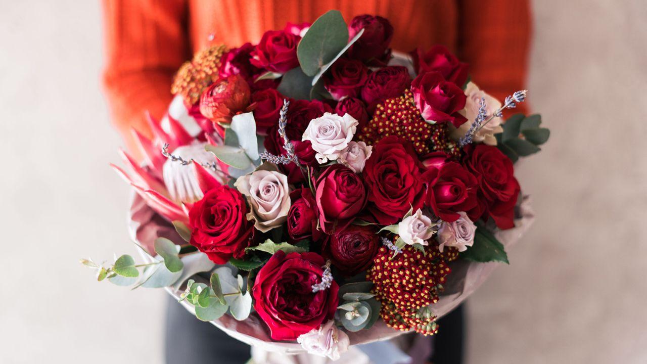 Ideas para ramos de flores en San Valentín - Jardinatis