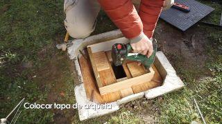 Cómo colocar una tapa de arqueta