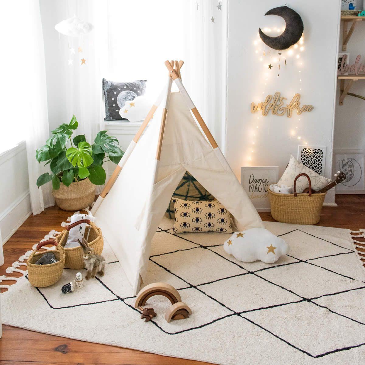 10 ideas para decorar el dormitorio infantil - Tipis