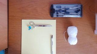 Cómo hacer un pompón de lana - Paso 1
