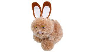 Conejo de Pascua con varios pompones