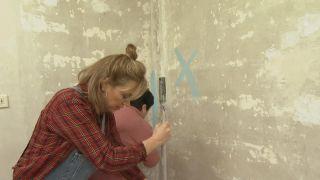 De estancia destrozada a dormitorio infantil relajado en tonos azules - Paso 3