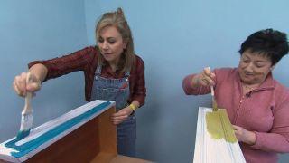 De estancia destrozada a dormitorio infantil relajado en tonos azules - Paso 6