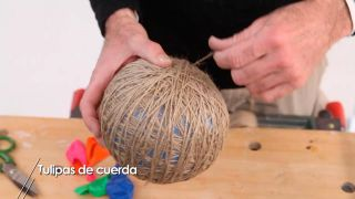 Cómo hacer tulipas de lámpara con cuerdas