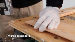 Cómo hacer un marco de madera con listones
