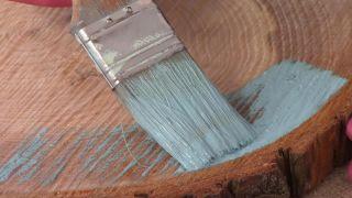 Así se hace un cabecero con discos de madera - Paso 2