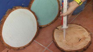 Así se hace un cabecero con discos de madera - Paso 3