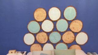 Así se hace un cabecero con discos de madera - Paso 4