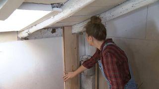 Convertimos un ático de madera en un cuarto de baño - Paso 8