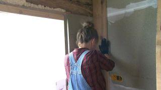 Convertimos una estancia vacía de un ático en una cocina campestre en madera  - Paso 2