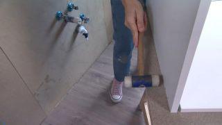 Convertimos una estancia vacía de un ático en una cocina campestre en madera - Paso 4