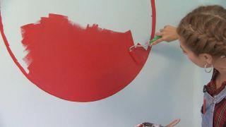Habitación muy luminosa y relajada con círculo rojo - Paso 5