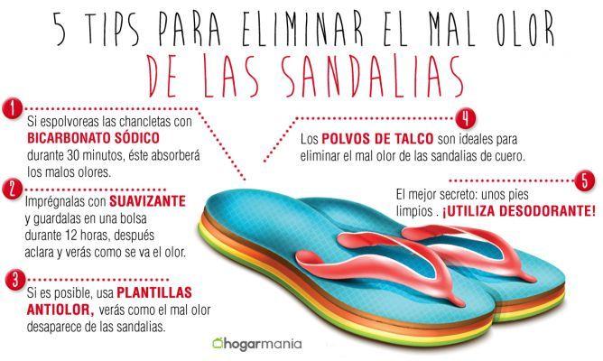 5 Consejos Para Eliminar El Mal Olor De Las Sandalias Hogarmania