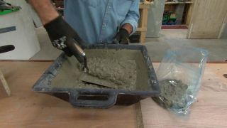 Cómo hacer topes de cemento para puertas