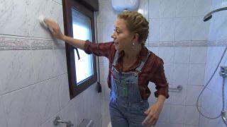 Decorar un cuarto de baño en madera y gris - Paso 1