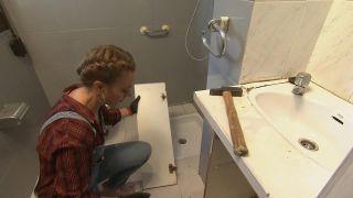 Decorar un cuarto de baño en madera y gris - Paso 3
