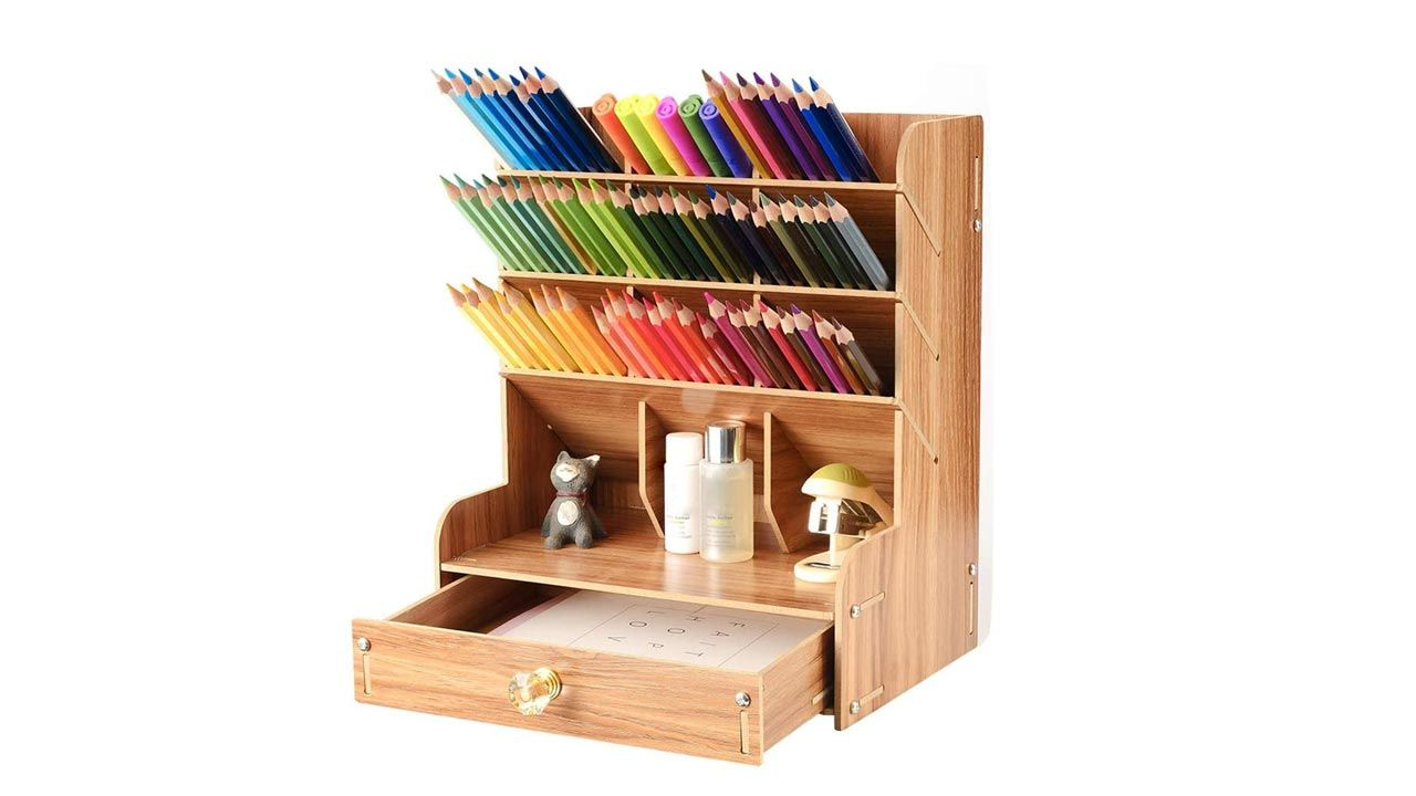 Organizadores de escritorio de madera
