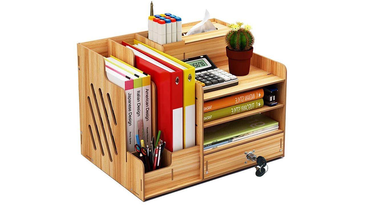 Organizador de escritorio completo, ¡hasta con pañuelos!