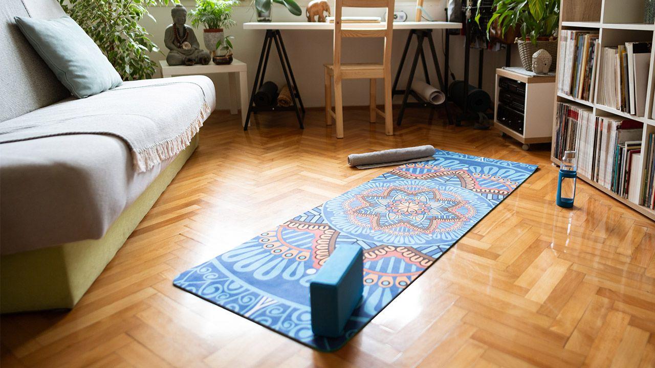 espacio relajado para yoga