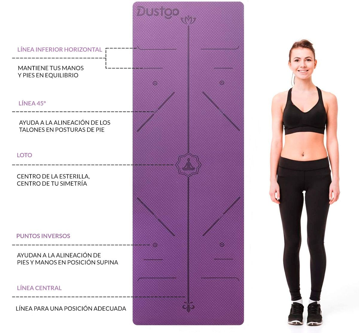 moda y accesorios para hacer yoga - esterillas con líneas