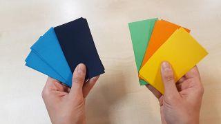 Cómo hacer una noria de cartulina o papel - Paso 1