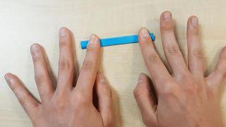 Cómo hacer una noria de cartulina o papel - Paso 3
