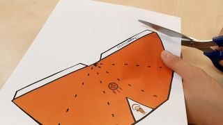 Cómo hacer tipis de papel (¡con plantillas gratuitas!) - Paso 1