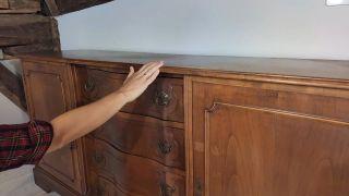 Cómo pintar una cómoda en verde lima - Antes