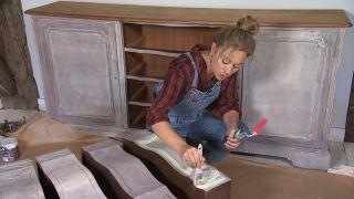 Cómo pintar una cómoda en verde lima - Paso 5