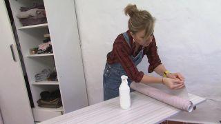 Cómo forrar un armario con vinilo - Paso 3