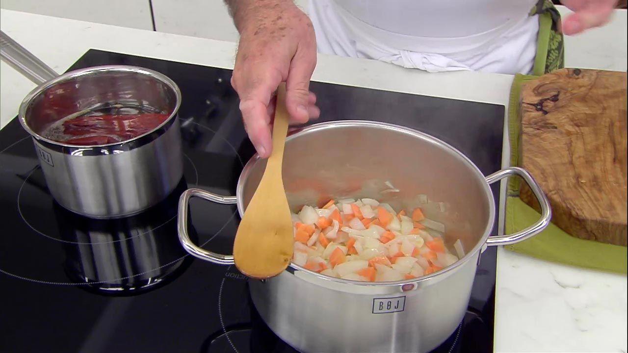 Jamón con tomate y guindillas