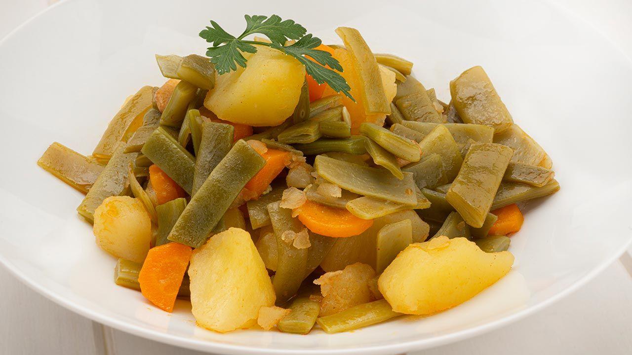 Judías verdes con patatas y pimentón