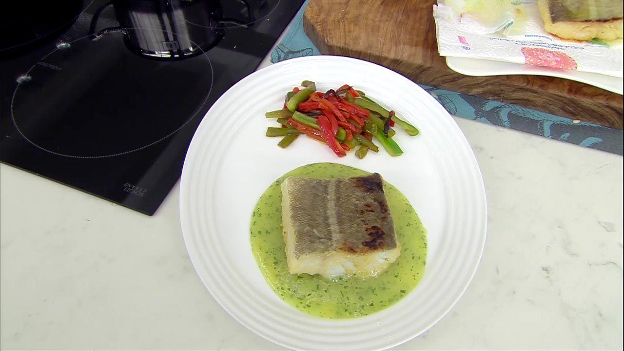 Bacalao frito con salsa de puerro