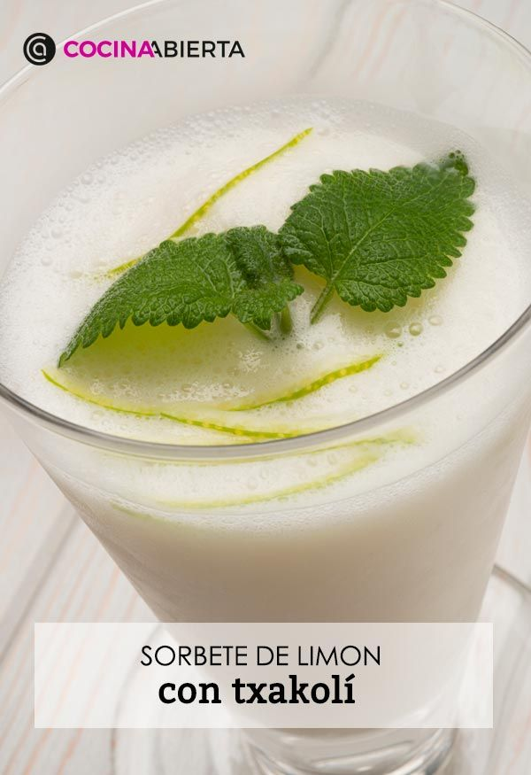 Sorbete de limón al txakoli