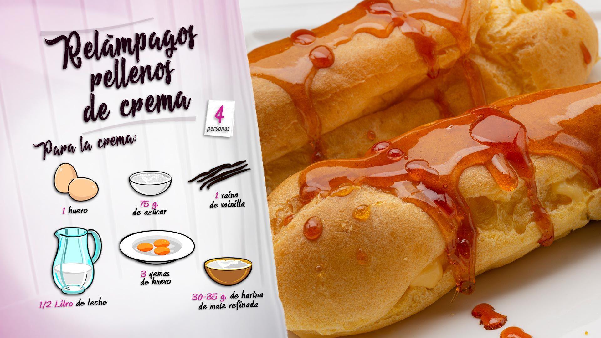 Relámpagos rellenos de crema, una dulce propuesta de Eva Arguiñano