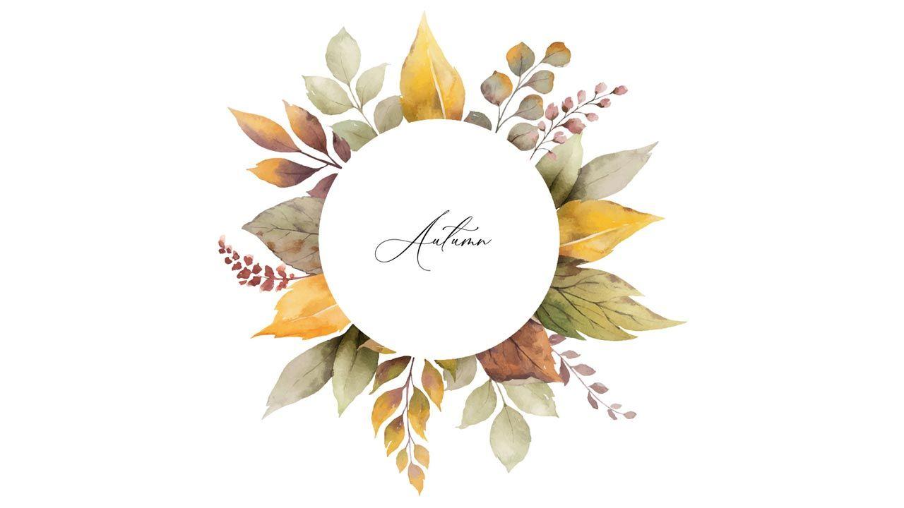 Lettering y acuarela para otoño