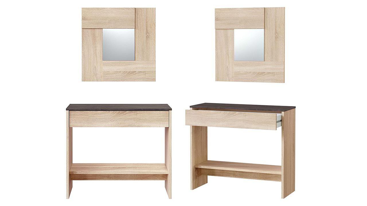 Mueble recibidor madera bicolor
